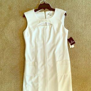 Sandra Darren White A -Line Dress